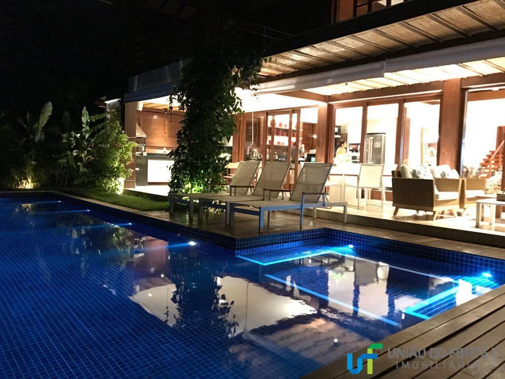 Uni o do forte imobili ria casa residencial para loca o for Churrasqueira e piscina