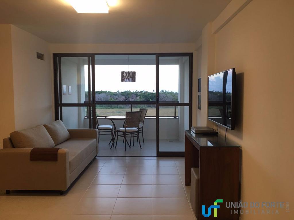 Apartamento residencial para locação, Guarajuba, Camaçari.