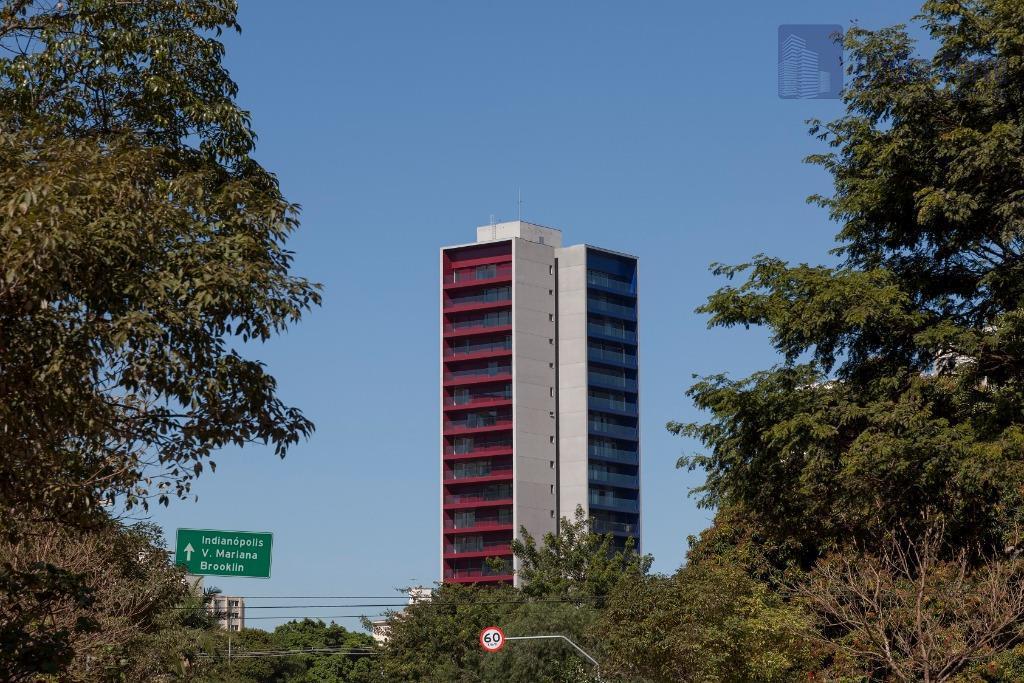 Apartamento decorado ou sem a decoração na Vila Olimpia
