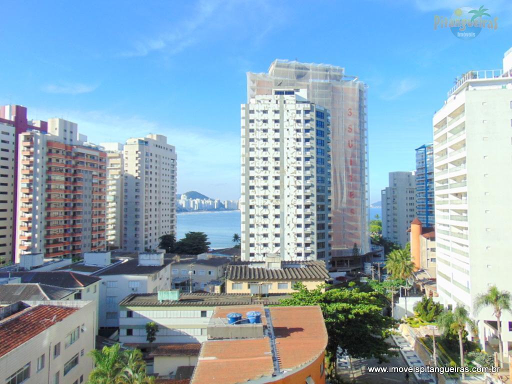 Astúrias - Lindo apartamento próximo da praia com vista para o mar - Prédio com lazer e garagem.