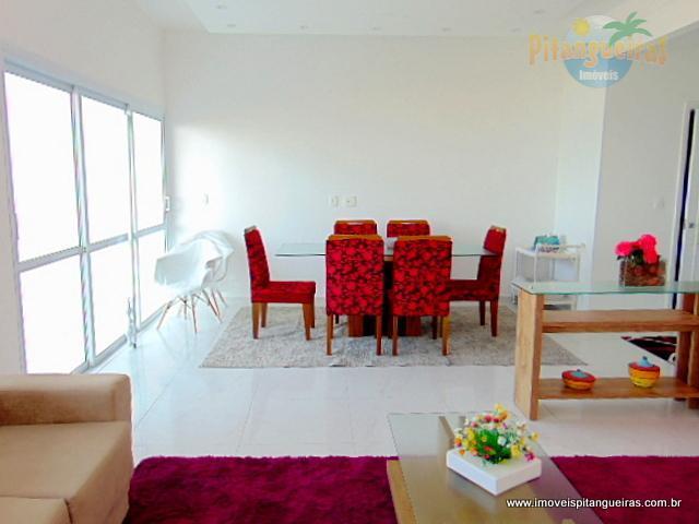 Pitangueiras - Frente total ao mar - Lazer - Varanda com linda vista - 150 m² úteis - Próximo ao Shopping.
