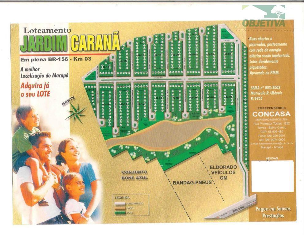 Terreno residencial à venda, Boné Azul, Macapá.