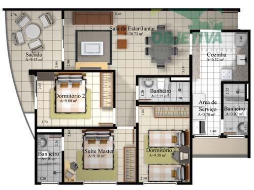 imóvel residencial localizado na avenida caramurú, nº 1005, bairro buritizal - residencial ilha de capri, 10º...