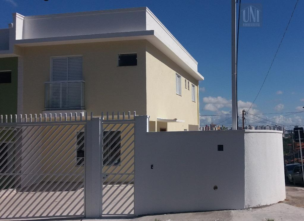 Sobrado residencial à venda, Jardim Santo Antônio, Santo André.