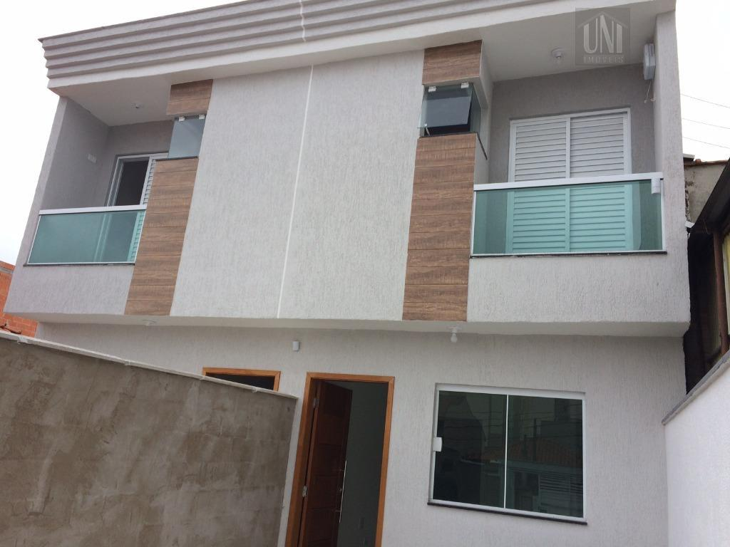 Sobrado residencial à venda, Vila Bartira, Santo André.