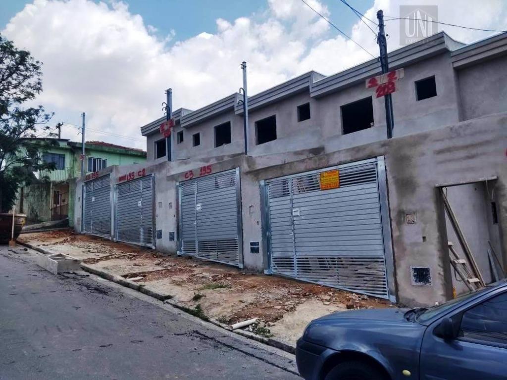 Sobrado com 2 dormitórios à venda, 44 m² por R$ 265.000 - Parque Capuava - Santo André/SP
