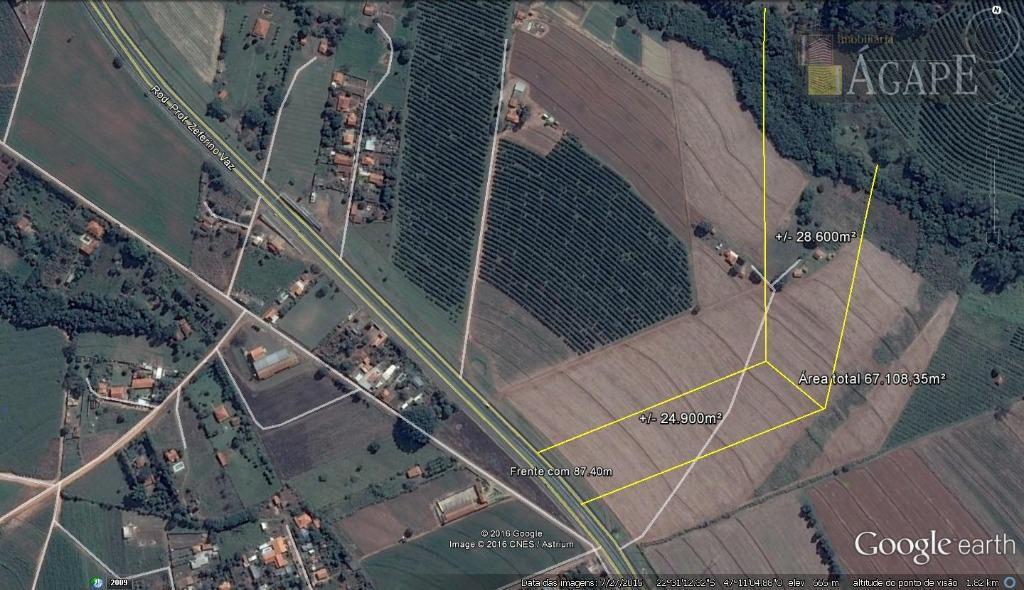 Área  à venda, Rodovia SP - 332, Artur Nogueira.