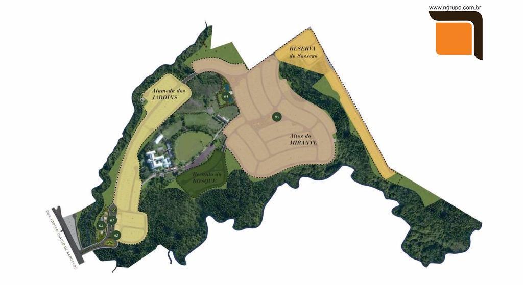 Mapa de Localização dos Lotes