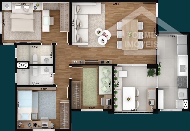 Apartamento Forest Jundiaí, residencial à venda, Jardim Ana Maria