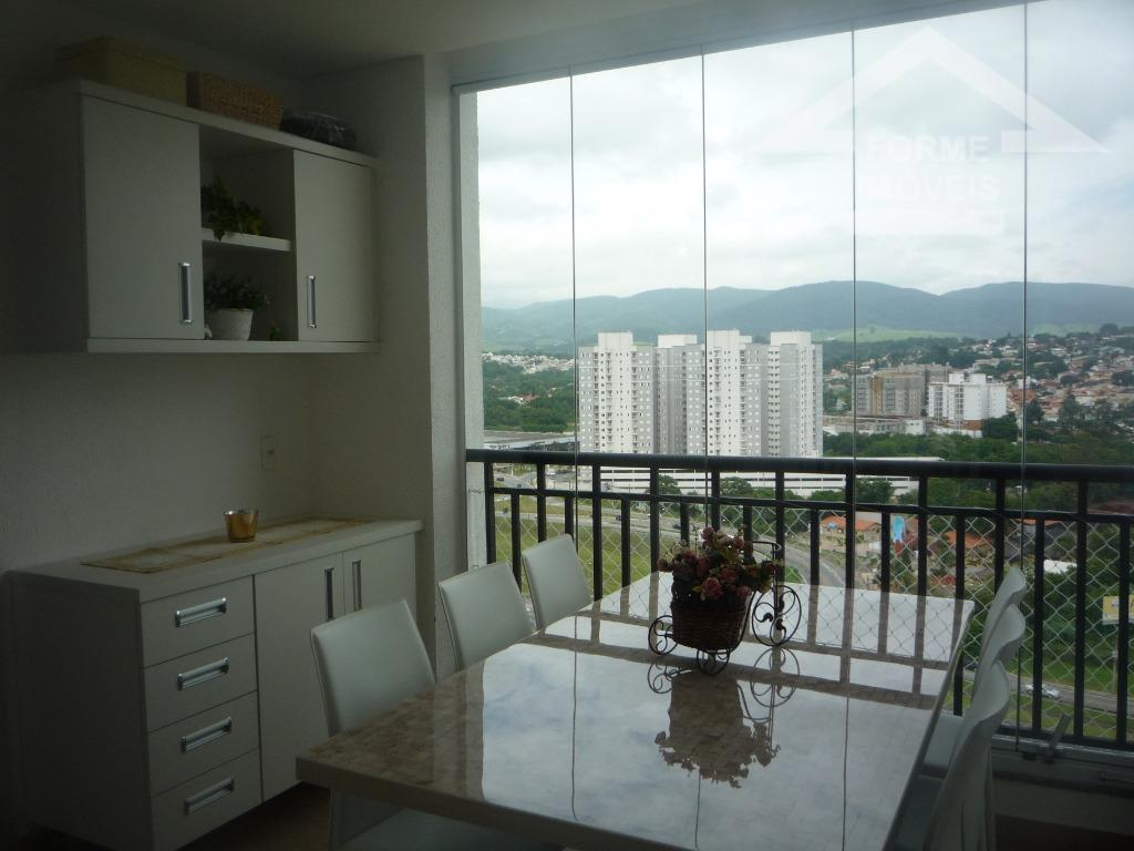 andar alto com vista para a serra do japi, novo, com sala ampla com varanda gourmet...