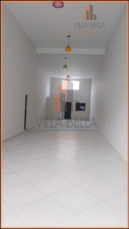 Salão comercial para locação, Vila Pires, Santo André - SL0133.