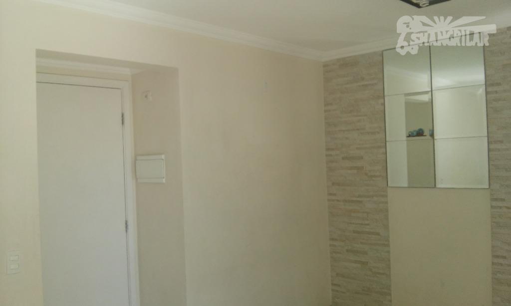 apartamento 02 dormitórios, 1 sala (2 ambientes e sacada), cozinha, área de serviço, banheiro com armário...