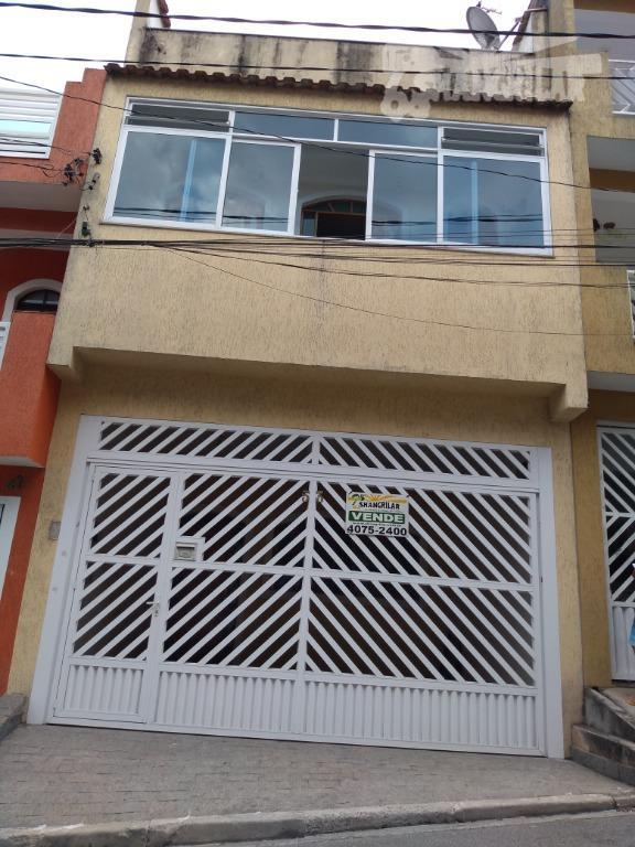 Sobrado com 3 Dormitórios, 2 Vagas de Garagem em Piraporinha- Diadema.