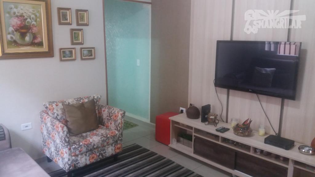 Casa Térrea com 2 Dormitórios, 2 Vagas de Garagem no Planalto/Calux - São Bernardo do Capo-SP