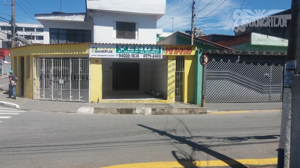 Sobrado com 3 dormitórios à venda, 323 m² por R$ 450.000,00 - Piraporinha - Diadema/SP