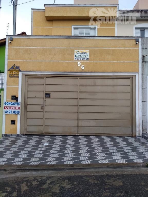 excelente sobrado na vila nogueira em diadema, 2 vagas de garagem, portão automático, sala planejada com...
