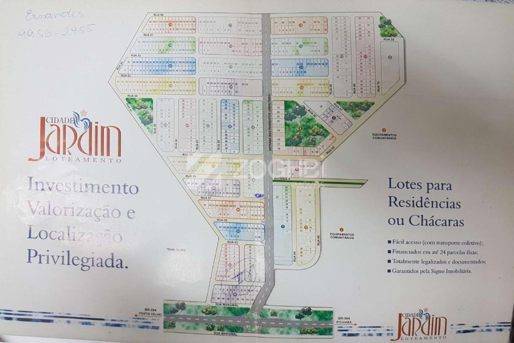 excelente terreno de frente para a estrada dos periquitos, ótimo para comércios com 595m² e de...