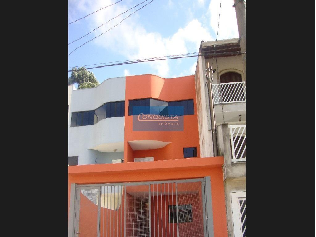 Sobrado residencial à venda, Jardim Milena, Santo André.