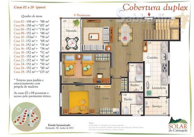 Casa residencial à venda, Carangola, Petrópolis.