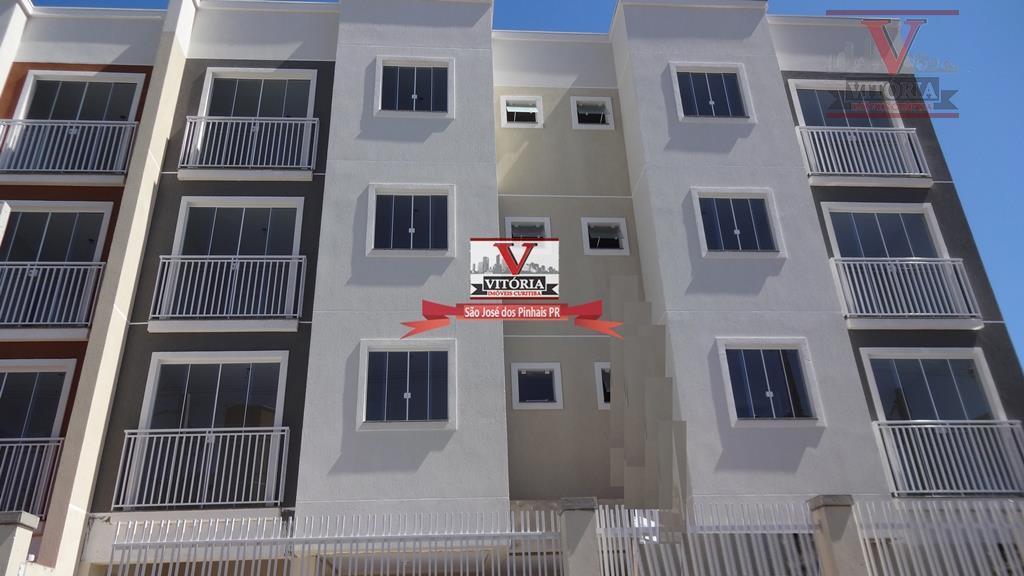 Apartamento residencial à venda, Cruzeiro, São José dos Pinhais - AP0681.
