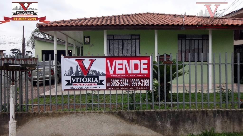 Imóveis à venda, São José dos Pinhais - Casa com terreno 13x34 - Cruzeiro, São José dos Pinhais - CA0211.
