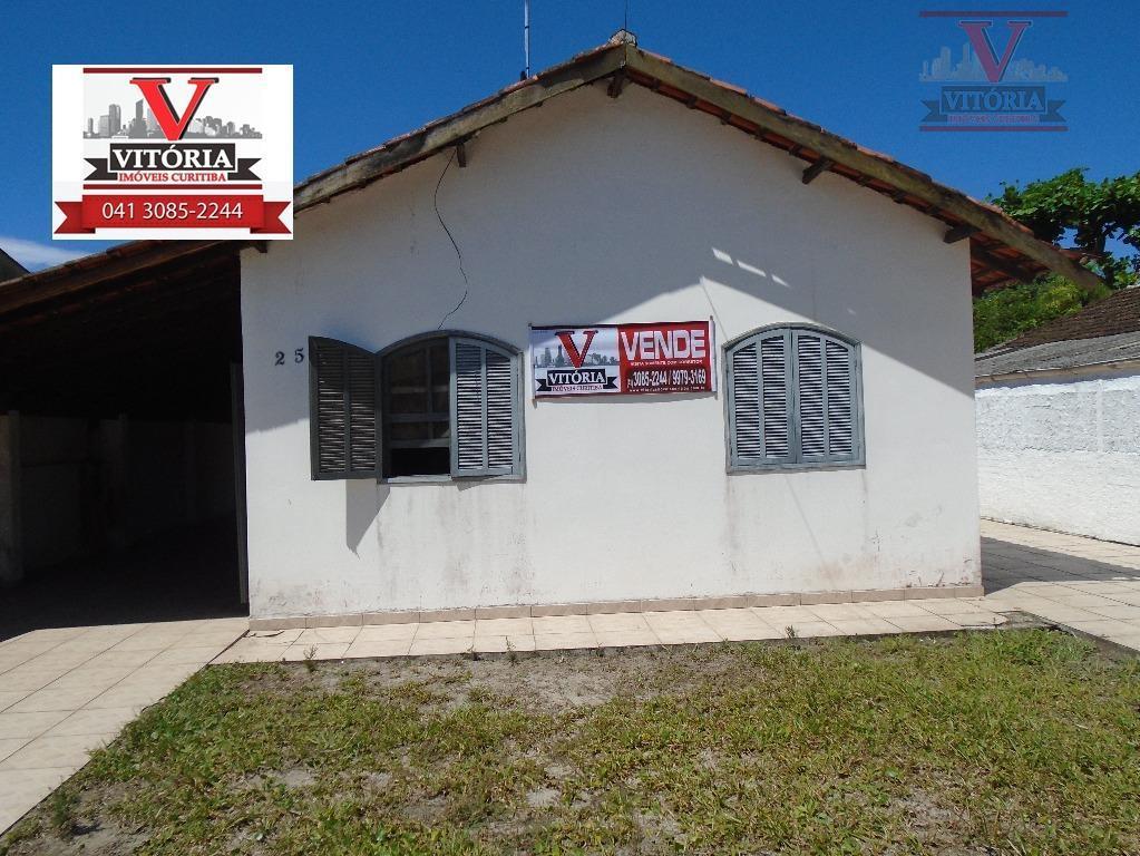 Casa na praia com 520m² de terreno à venda, Matinhos -  CA02 de Vitória Imóveis Curitiba.'