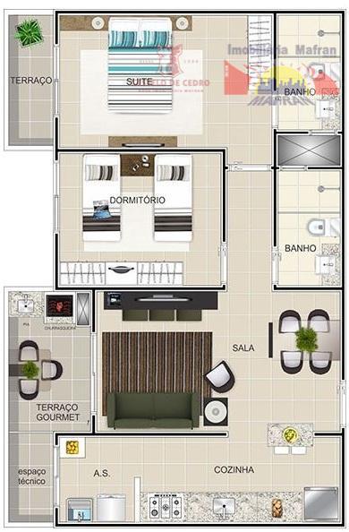 Apartamento residencial à venda, Vila Guilhermina, Praia Grande - AP0208.