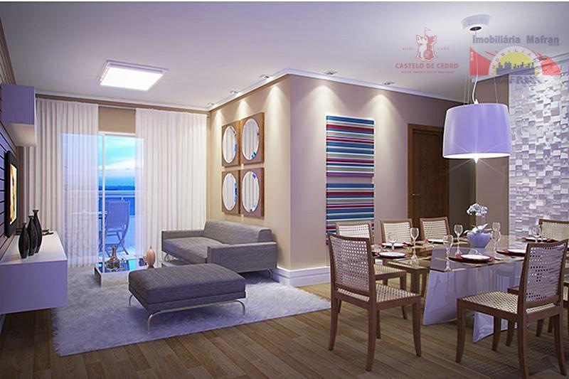 Apartamento residencial à venda, Vila Caiçara, Praia Grande - AP0274.