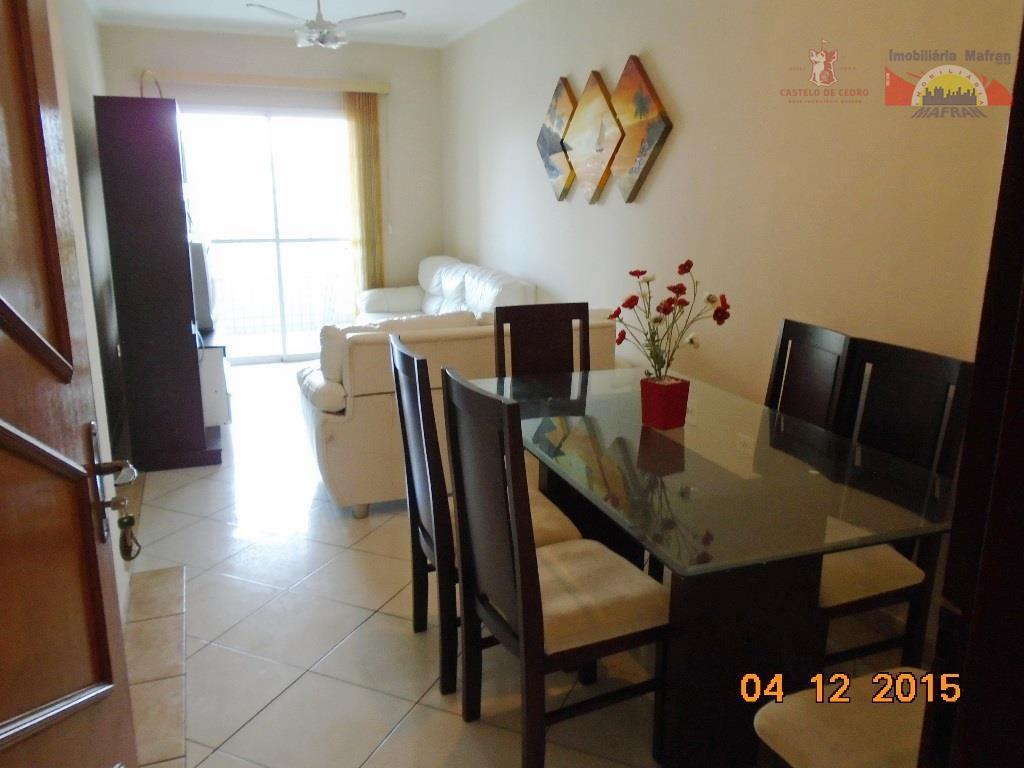 Apartamento semi mobiliado de 2 dormitórios, vista mar, Guilhermina, Praia Grande.