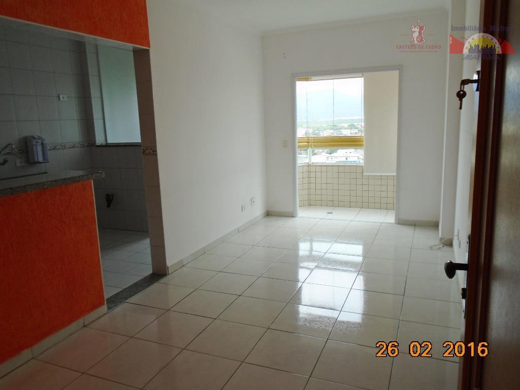 Apartamento de 1 dormitório na Tupi em Praia Grande. Prédio com Piscina.