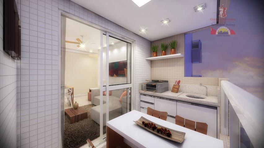 Apartamento residencial à venda, Vila Guilhermina, Praia Grande - AP1674.