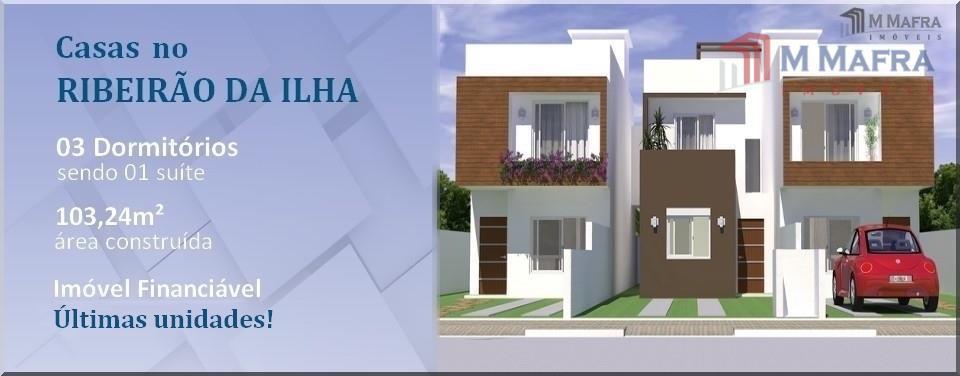 Casa residencial à venda, Ribeirão da Ilha, Florianópolis, Imóvel Financiável.