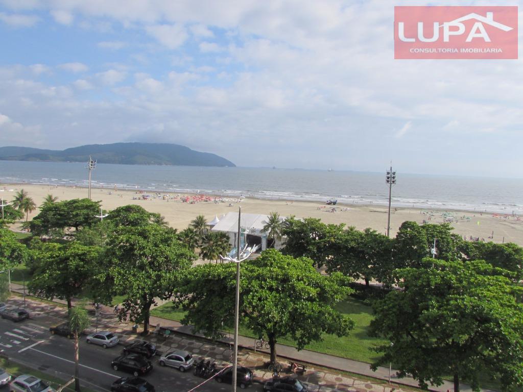 Apartamento frente mar 03 suítes para venda e locação, Gonzaga, Santos.