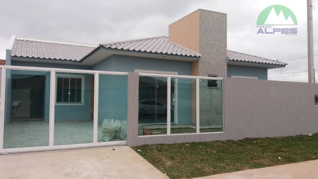 Casa com 3 dormitórios à venda, 64 m² por R$ 210.000 - Veneza - Fazenda Rio Grande/PR