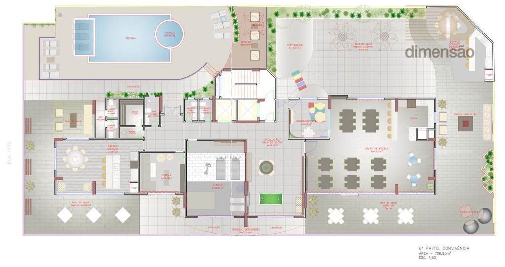 empreendimento residencial de excelente qualidade de acabamento, com 9.029,42m² de área construída, localizado no centro de...