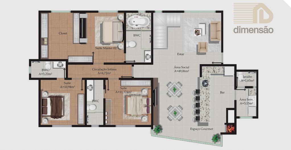 Planta Duplex pavimento 2