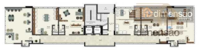 ótima sala comercial nova com 35,22 m²de área privativa mais vaga de garagem com 11,5m². excelente...