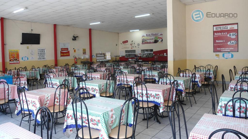 ponto comercial, ótima localização, no centro de mogi, restaurante montado com salão amplo com 180 lugares...