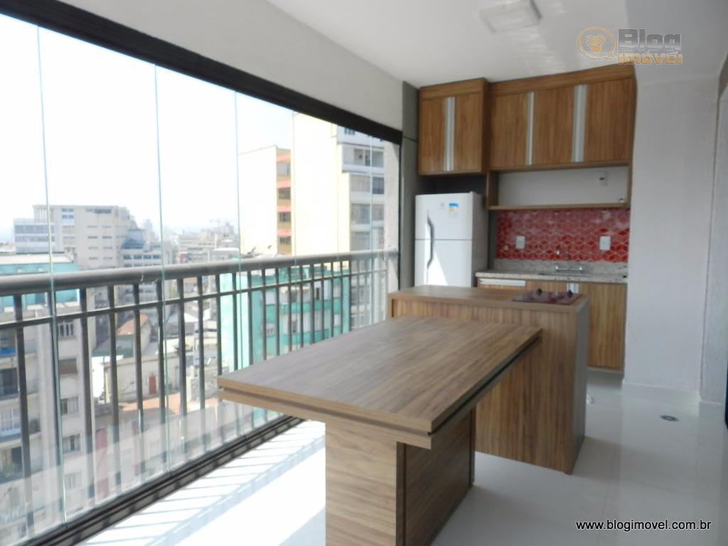 Apartamento para locação semi-mobiliado, 1 dorm, 1 vaga de garagem, Centro