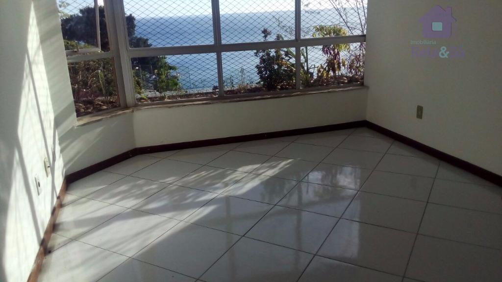 Apartamento vista mar,2/4, suíte, 80m² - Campo Gramde