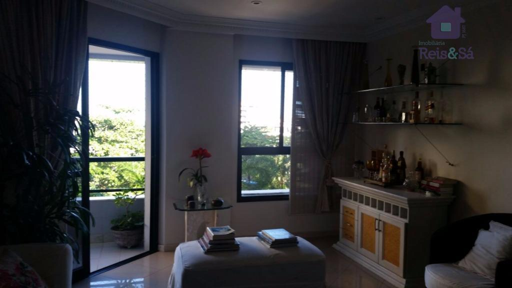 Apartamento 4/4, 02 suítes, 144m², nascente - Jardim Apipema