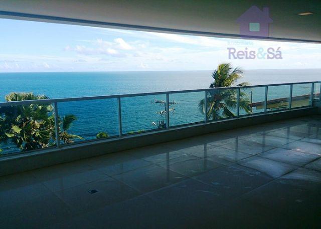 Apartamento 04 suítes, 348,67m², nascente total, vista mar - Barra