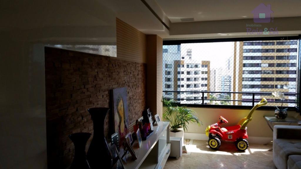 Apartamento 4/4, 03 suítes, 149m², vista mar - Pituba