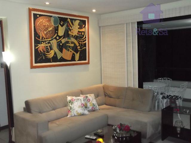 Apartamento 3/4, 80m², garagem coberta, nascente - Pituba