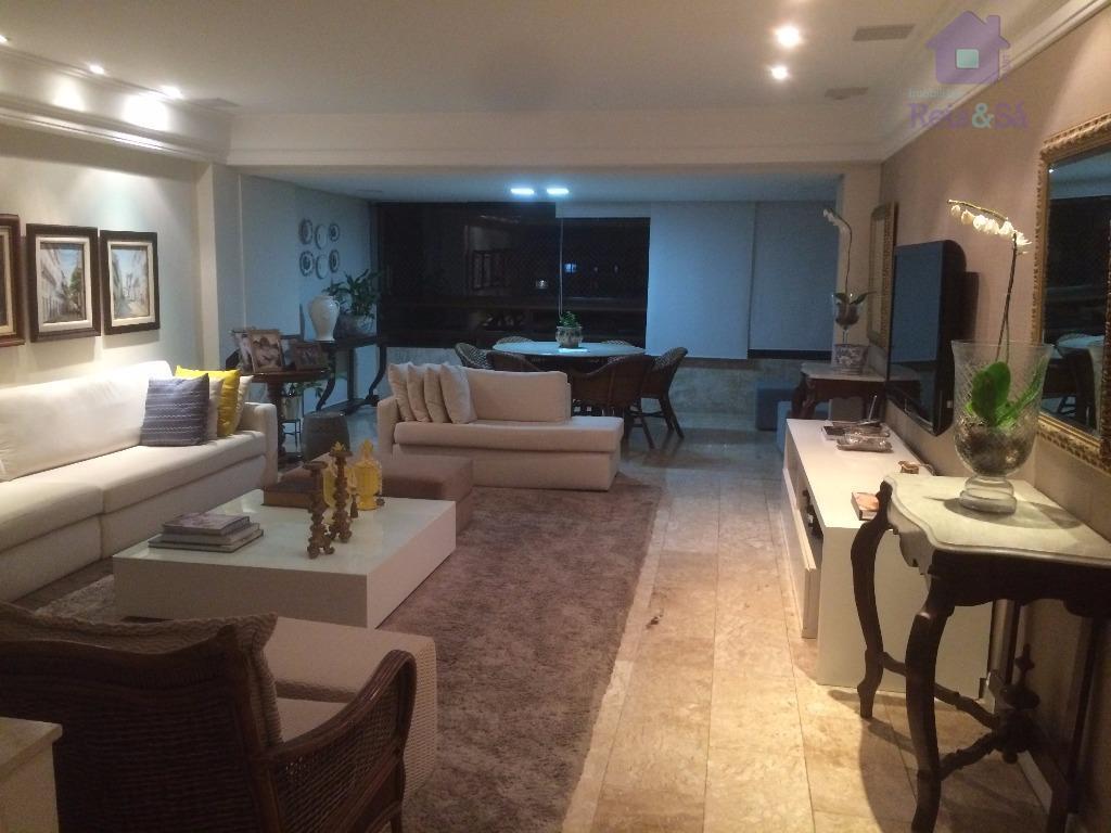 Apartamento 04 suítes, 235m², todo climatizado - Itaigara