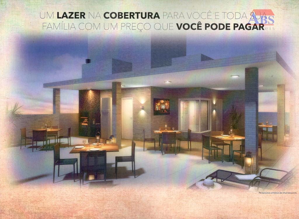 Viva Vida Residencial - Aptos 1 e 2 dorm com 1 vaga - Elevador e Lazer na Cobertura, Cubatão.