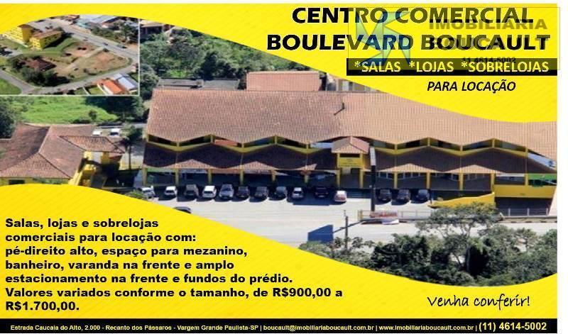 Centro Comercial Boulevard Boucault, Salas, Lojas, Sobrelojas para Locação