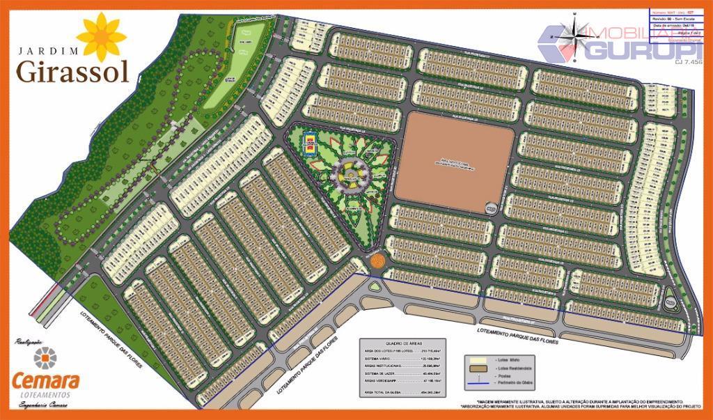 um bairro planejado, um novo conceito em morar!jardim girassol é um residencial aberto planejado para proporcionar...