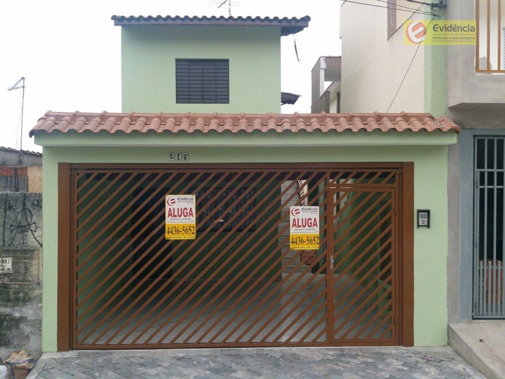 Casa  residencial para locação, Vila Tibiriçá, Santo André.