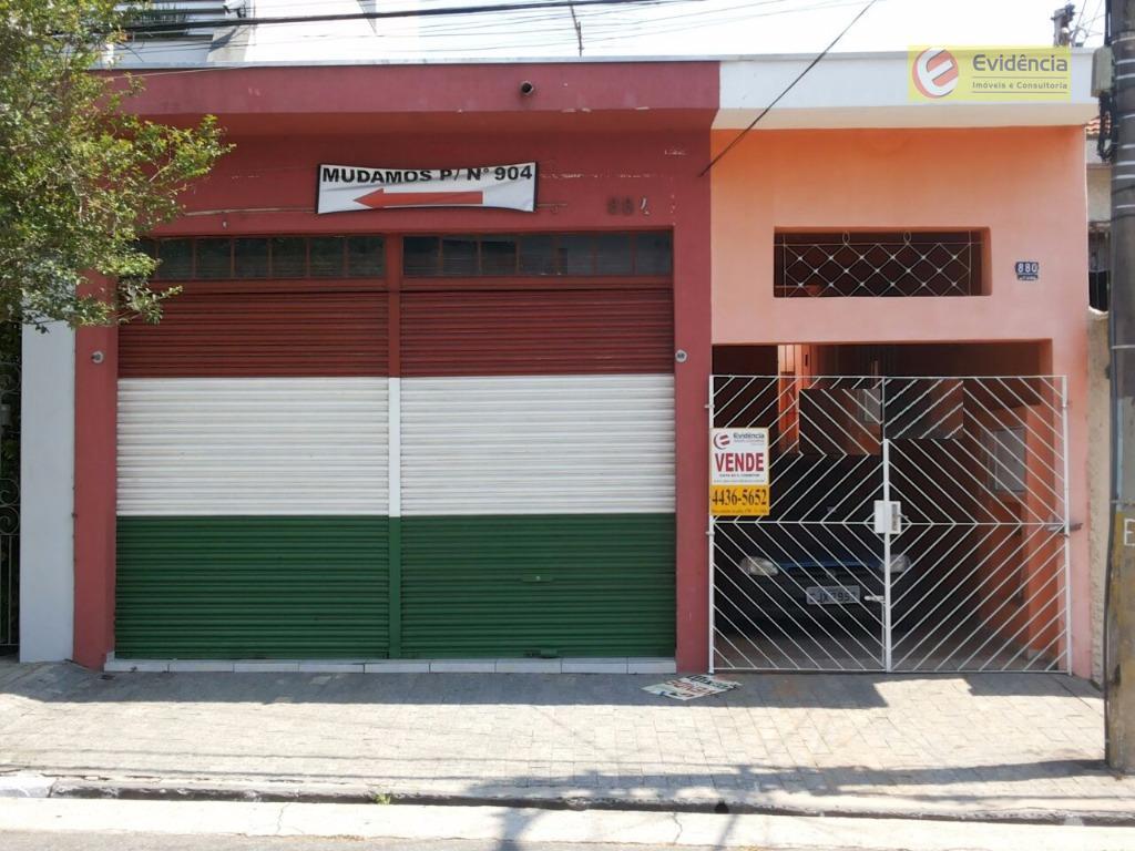 Casa residencial à venda, Olímpico, São Caetano do Sul.